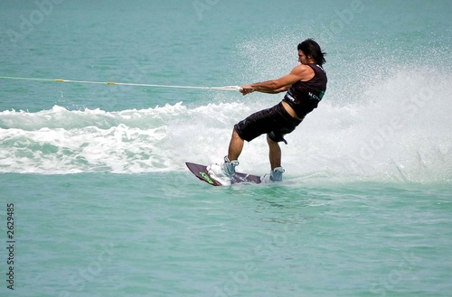 man on a wake board