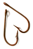 rusted fish hooks poster