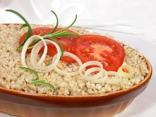 porridge barley groats and buckwheat