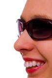 girl in eyeglasses poster