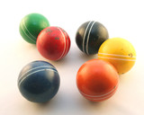 a group of colorful balls