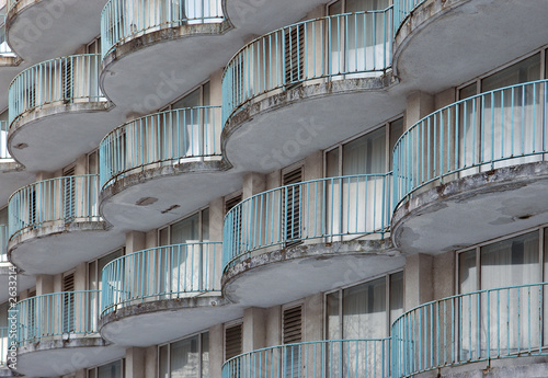 deserted building balcony