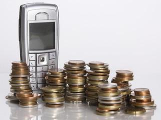 téléphone et monnaie