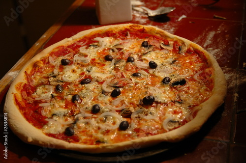 photo pizza cuite