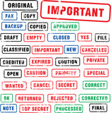 many rubber stamps poster