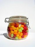 jelly beans in jar poster