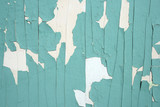 green peeling paint background poster