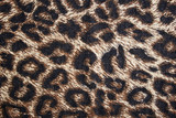 leopard spotted fabric background poster