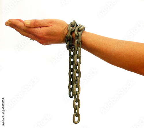take these chains from my arms