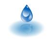water drop down