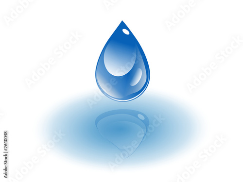 water drop down