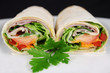 ham and salad wrap 2