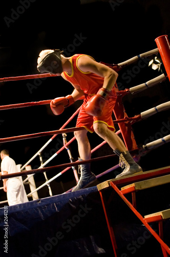 boxer entering boxing ring