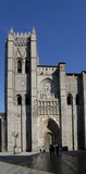cathedral of avila in spain. principal front entry poster