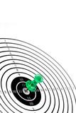 target wth green pin or dart poster