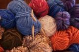 knitting balls of yarn poster