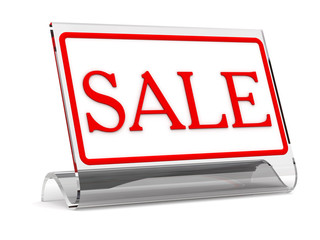 """""""sale"""" - tablet on a table"""
