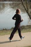 jogging im park poster