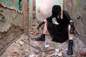 desperate gothic girl