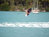 teen aged lady wake boarder poster