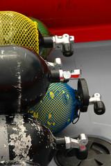 oxygen tanks on a boat