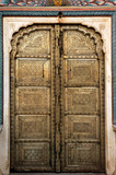 india, jaipur: a magnificent door in the city pala poster