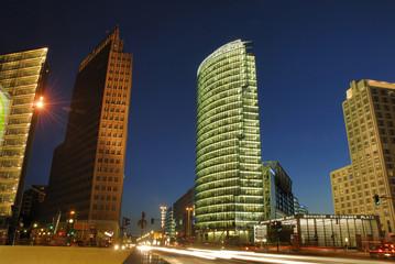 potsdammer platz berlin by night
