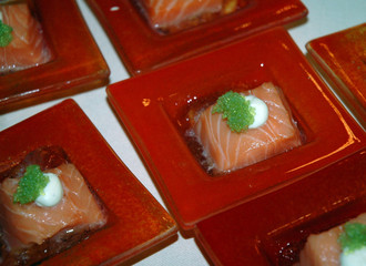petit four au saumon