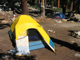 backpacking tent poster