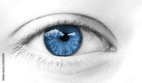 Poster Frau Auge weichen blauen Augen ruhig