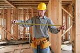 workman measuring poster