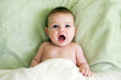 baby with open mouth