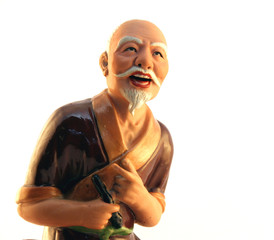 asian statue of an old man