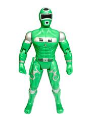green superhero isolated