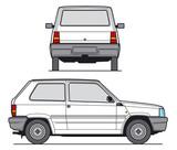 compact car vector poster