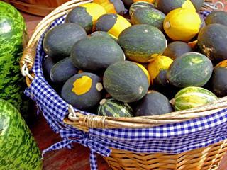 gourds in fancy basket