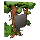 tree & blackboard poster