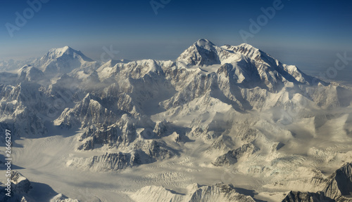 aerial view at mount denali (mckinley)