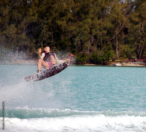 teen girl wake boarder