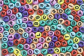 letter beads mix