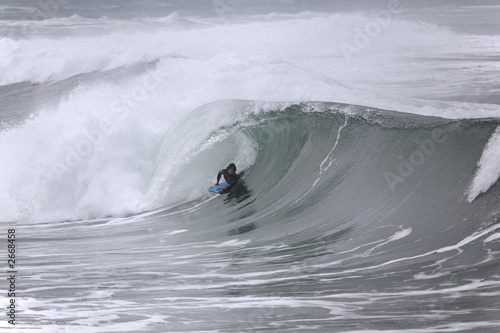 bodyboarder in the tube