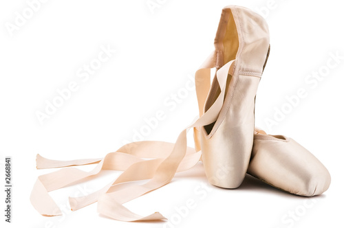 Fotobehang Dans ballet shoes