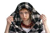 girl in hood poster