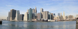 panoramic view of lower manhattan skyline poster