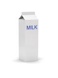 gable top carton with a label - milk poster