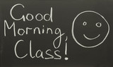 good morning, class! poster
