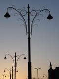 stylish street lanterns poster