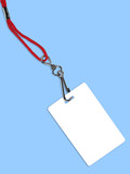 blank white badge with copy space (+ clipping path) poster