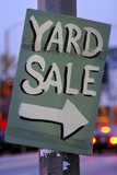 handmade yard sale sign poster