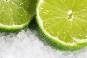 limes on sea salt